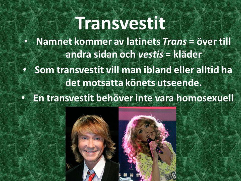 En transvestit behöver inte vara homosexuell