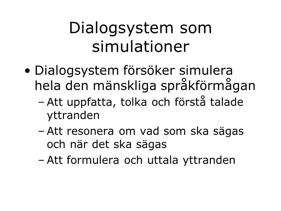 Dialogsystem som simulationer