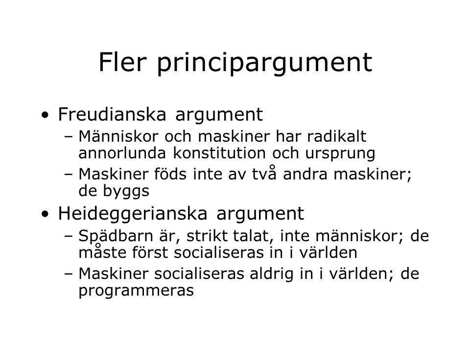 Fler principargument Freudianska argument Heideggerianska argument