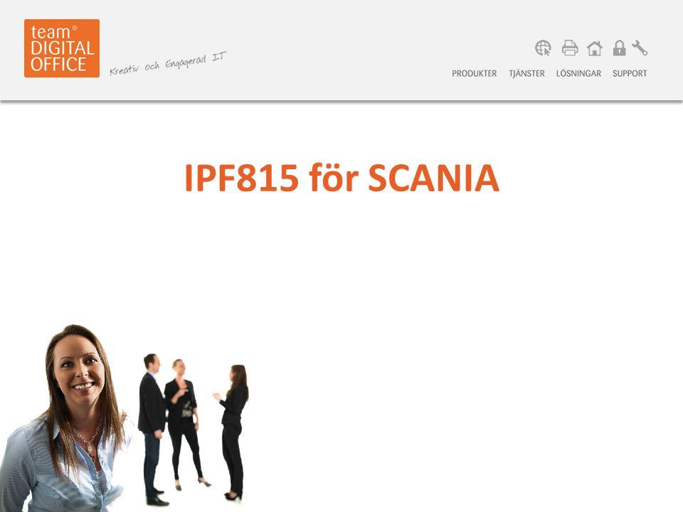 IPF815 för SCANIA