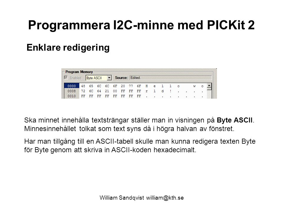 Programmera I2C-minne med PICKit 2