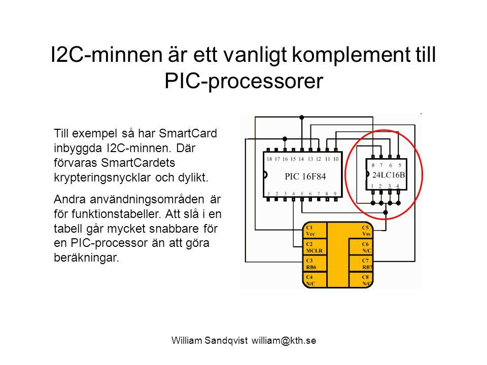 I2C-minnen är ett vanligt komplement till PIC-processorer