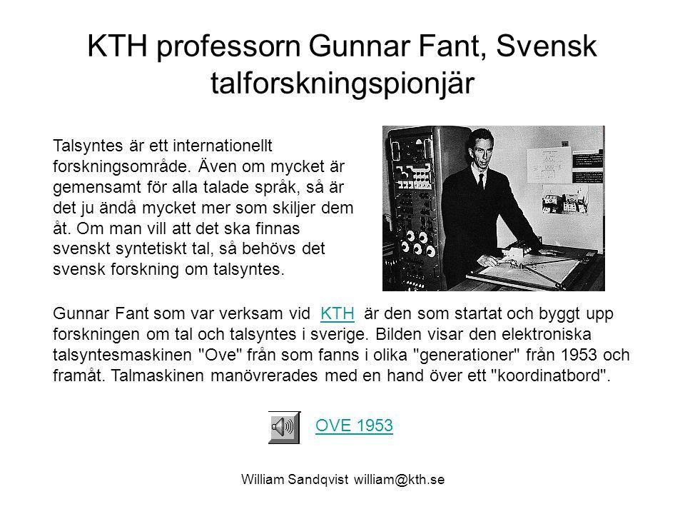 KTH professorn Gunnar Fant, Svensk talforskningspionjär