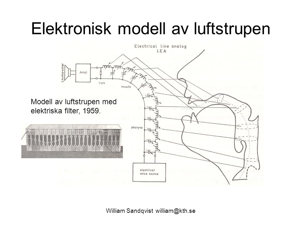 Elektronisk modell av luftstrupen