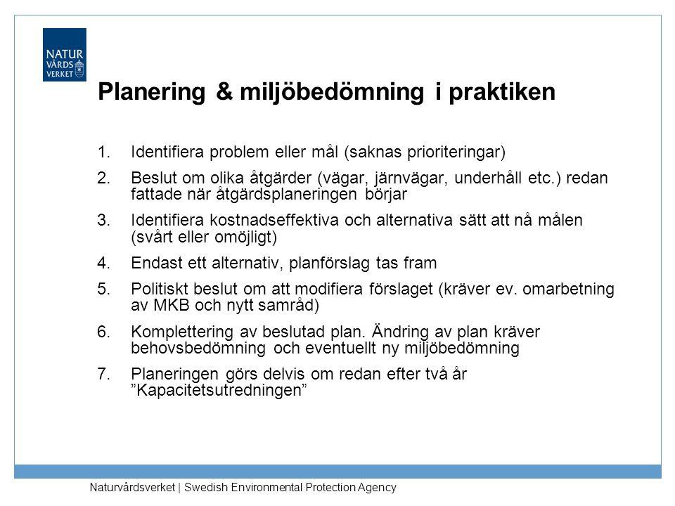 Planering & miljöbedömning i praktiken
