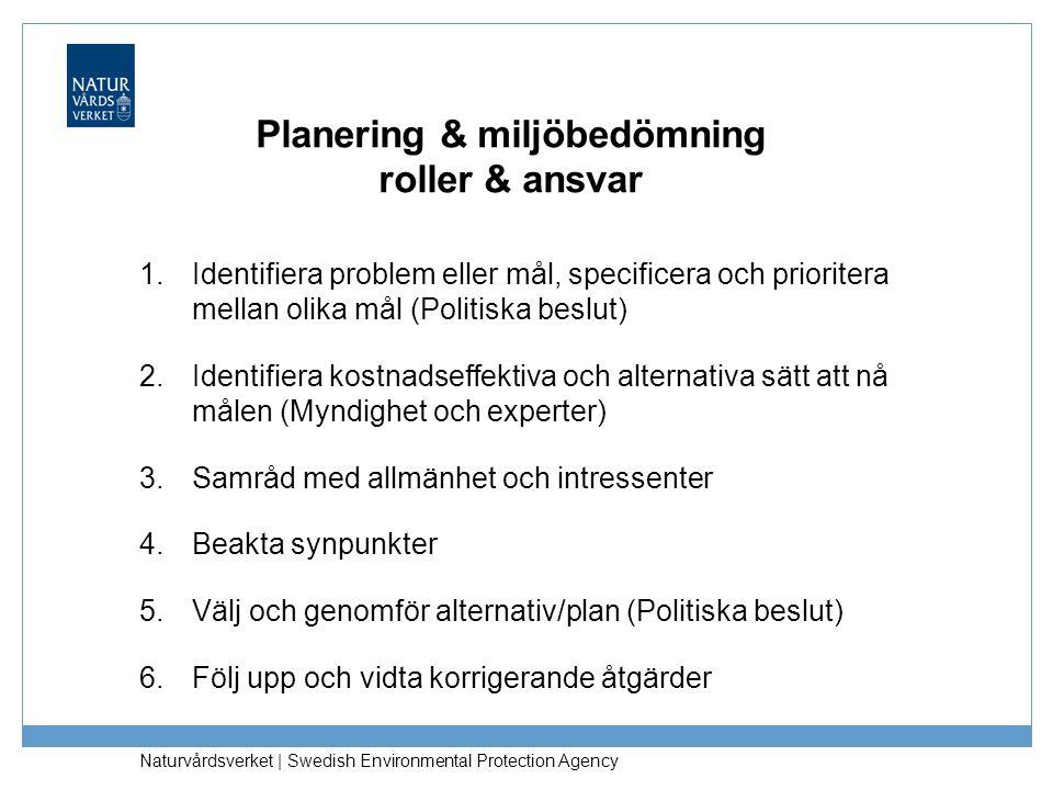 Planering & miljöbedömning roller & ansvar