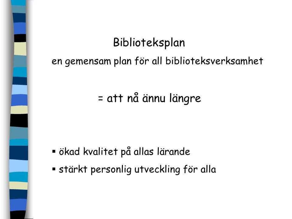 Biblioteksplan en gemensam plan för all biblioteksverksamhet