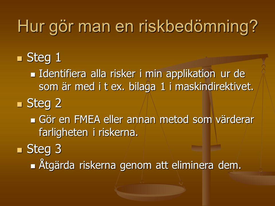 Hur gör man en riskbedömning