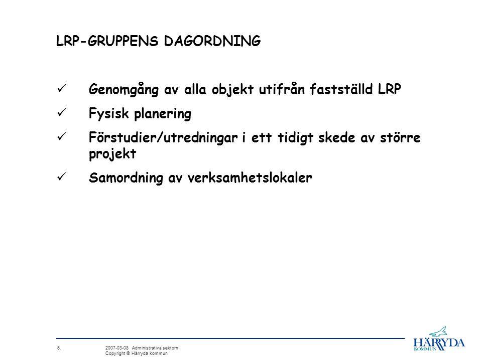 LRP-GRUPPENS DAGORDNING
