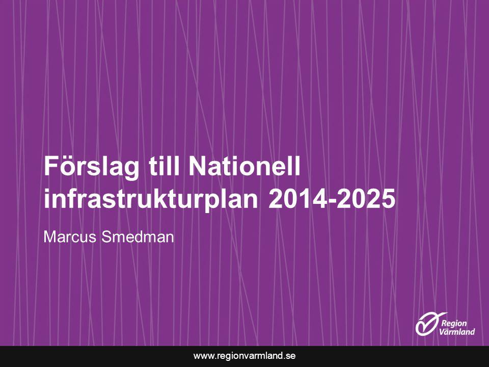 Förslag till Nationell infrastrukturplan 2014-2025
