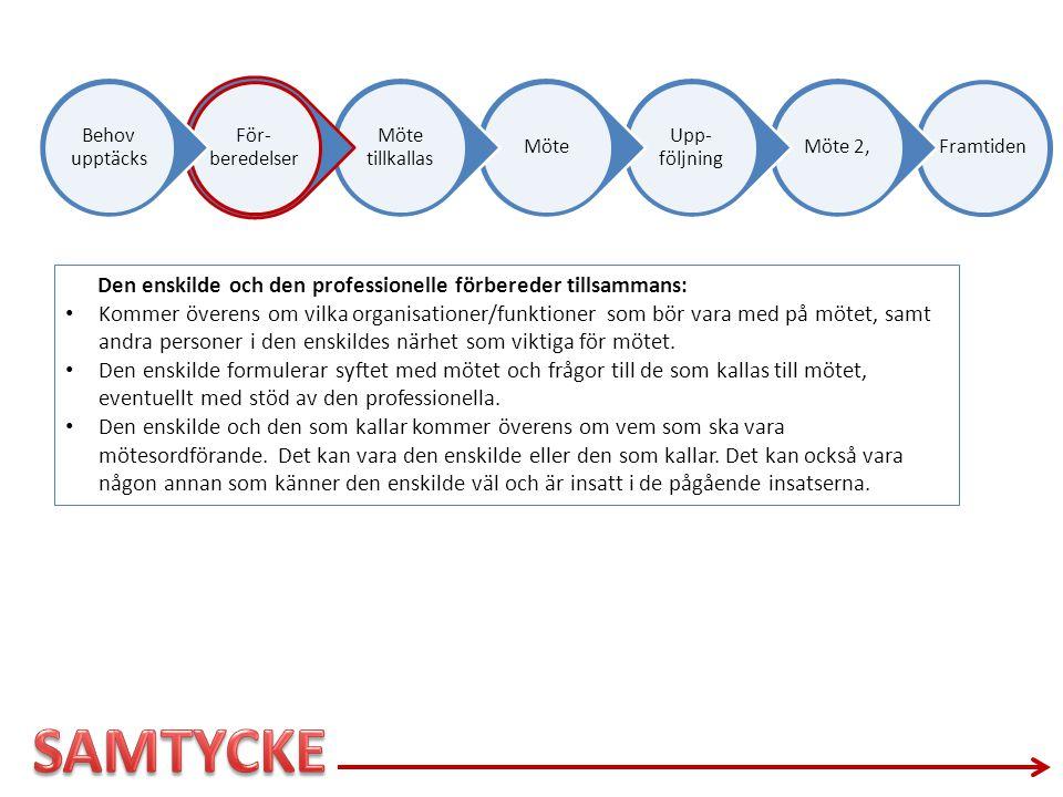 SAMTYCKE Den enskilde och den professionelle förbereder tillsammans: