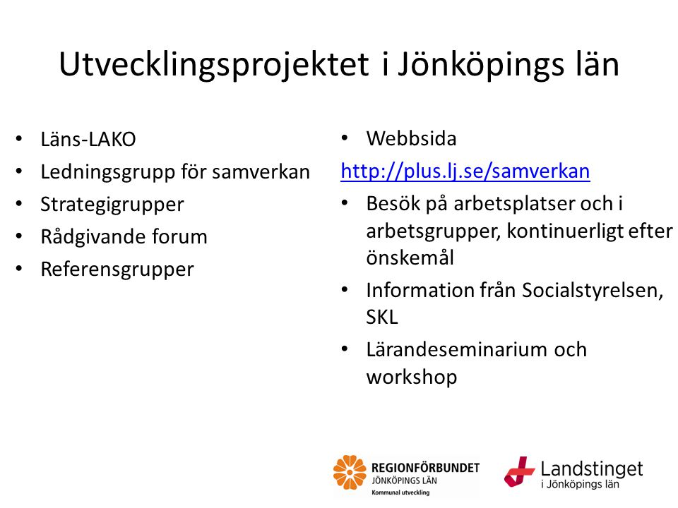 Utvecklingsprojektet i Jönköpings län
