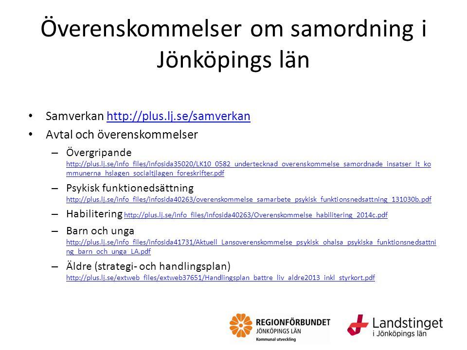 Överenskommelser om samordning i Jönköpings län