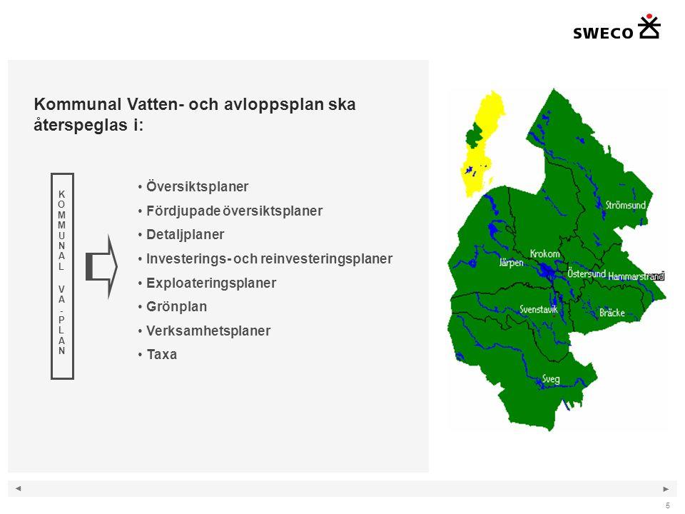Kommunal Vatten- och avloppsplan ska återspeglas i: