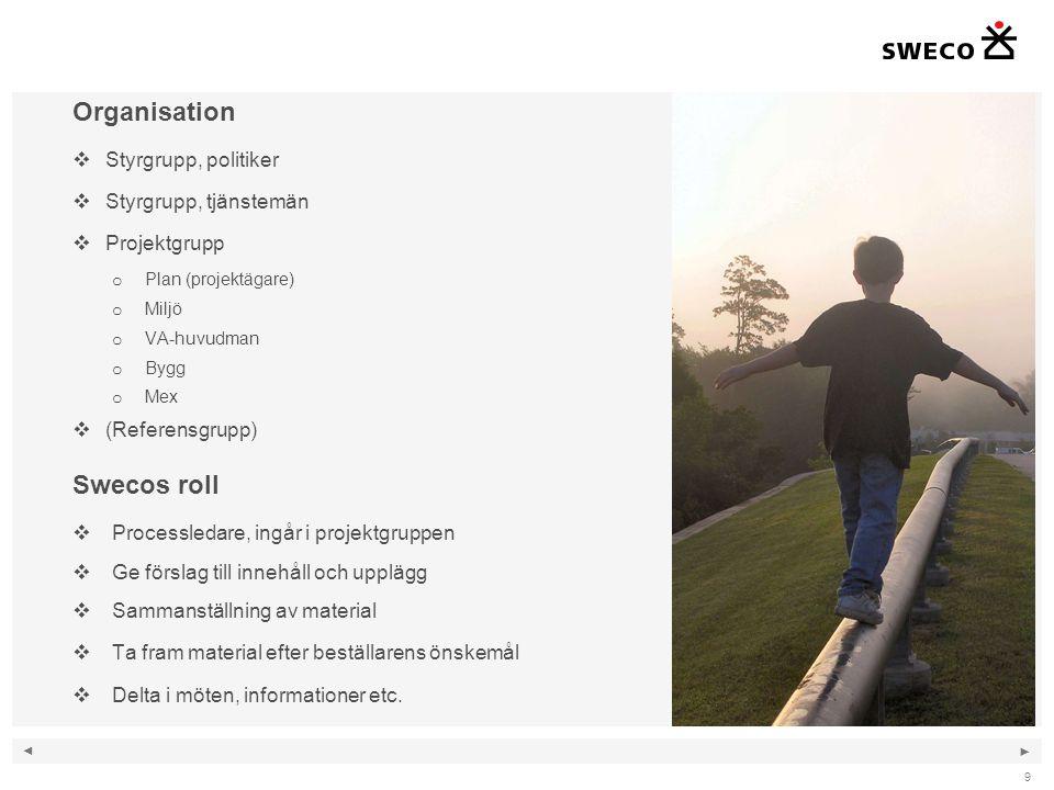 Organisation Swecos roll Styrgrupp, politiker Styrgrupp, tjänstemän
