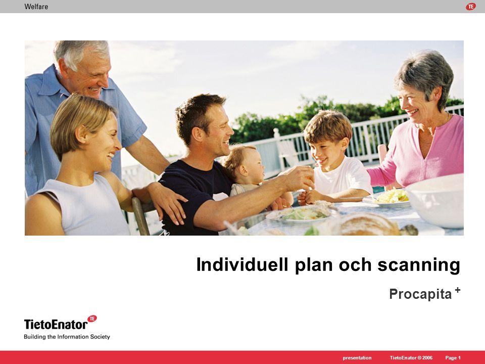 Individuell plan och scanning