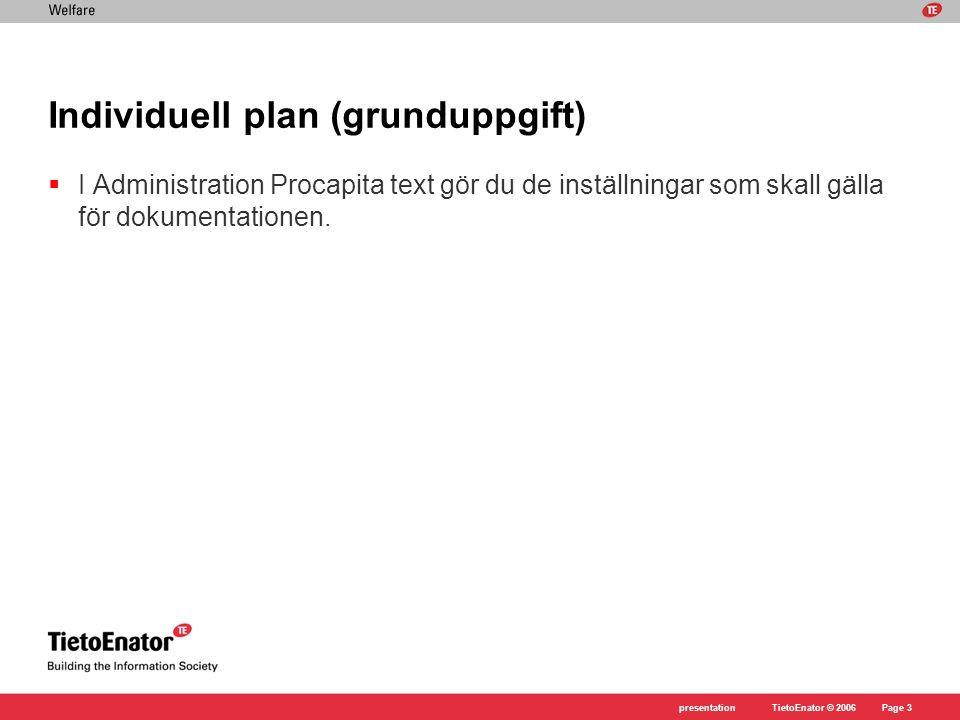 Individuell plan (grunduppgift)