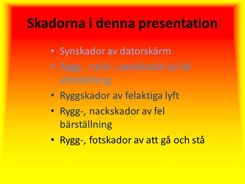 Skadorna i denna presentation