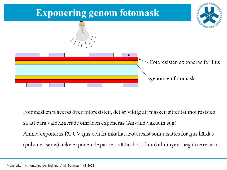 Exponering genom fotomask