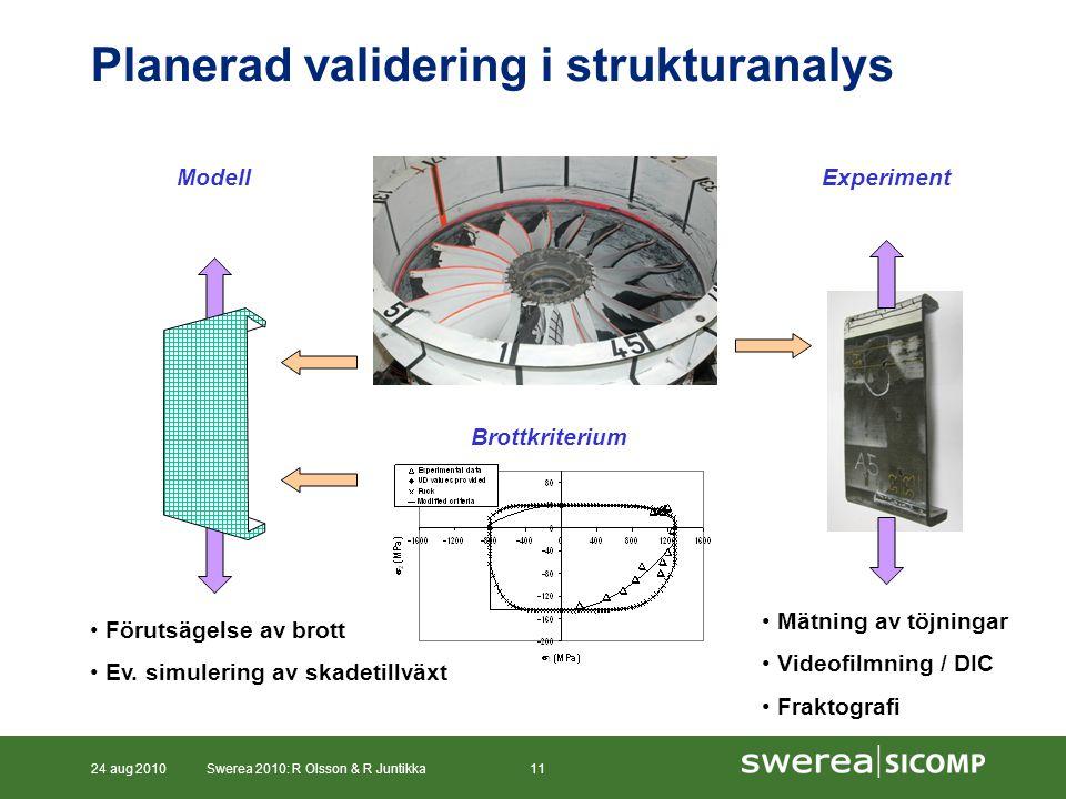 Planerad validering i strukturanalys