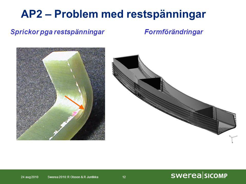AP2 – Problem med restspänningar