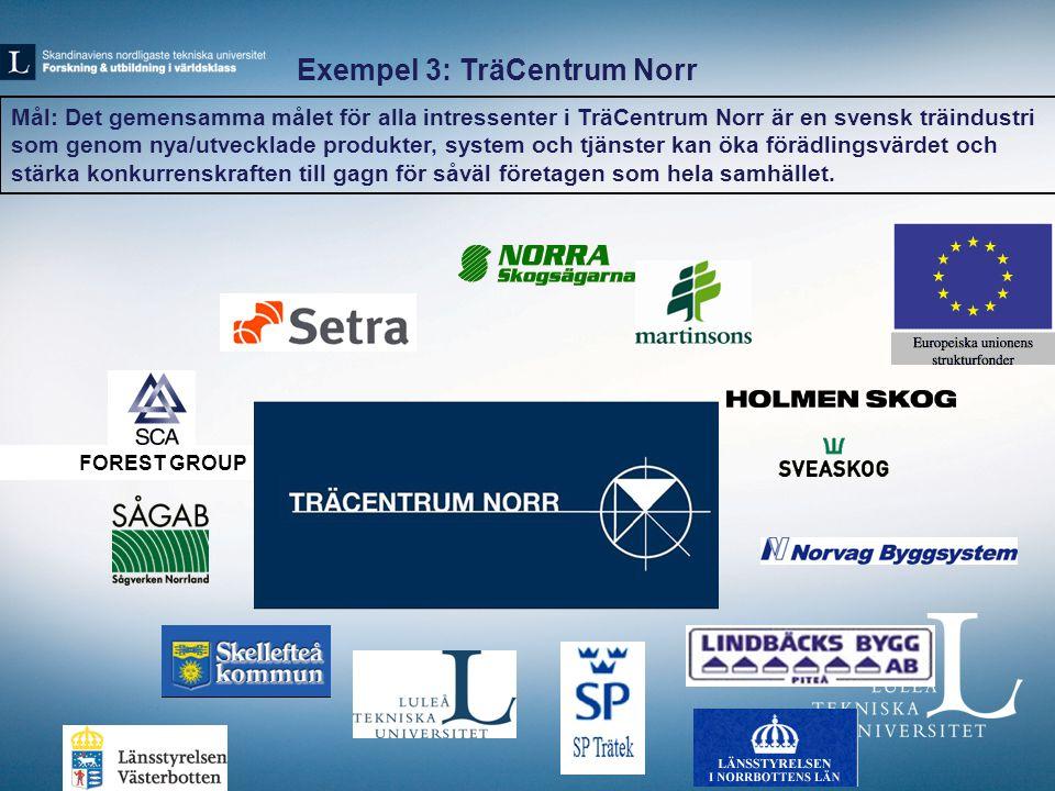 Exempel 3: TräCentrum Norr