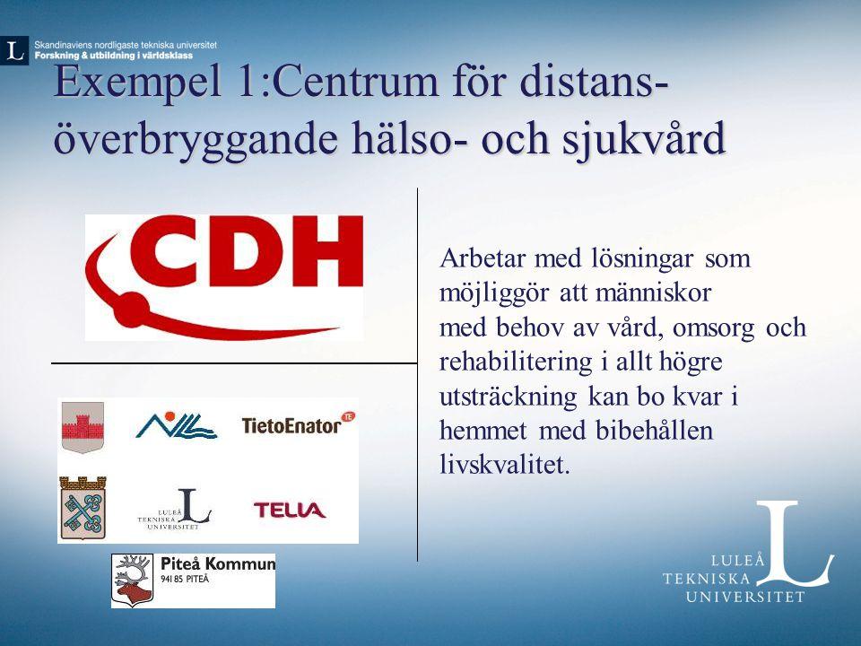 Exempel 1:Centrum för distans-överbryggande hälso- och sjukvård