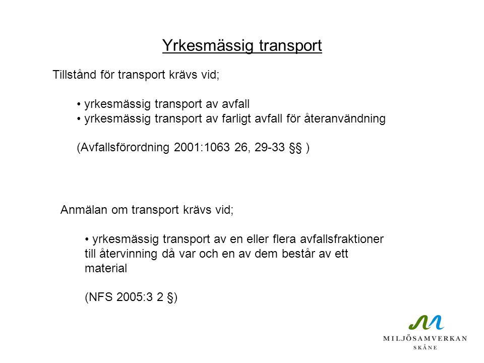 Yrkesmässig transport