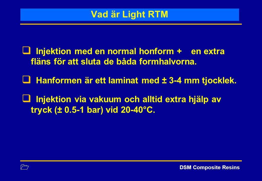 Vad är Light RTM Injektion med en normal honform + en extra fläns för att sluta de båda formhalvorna.