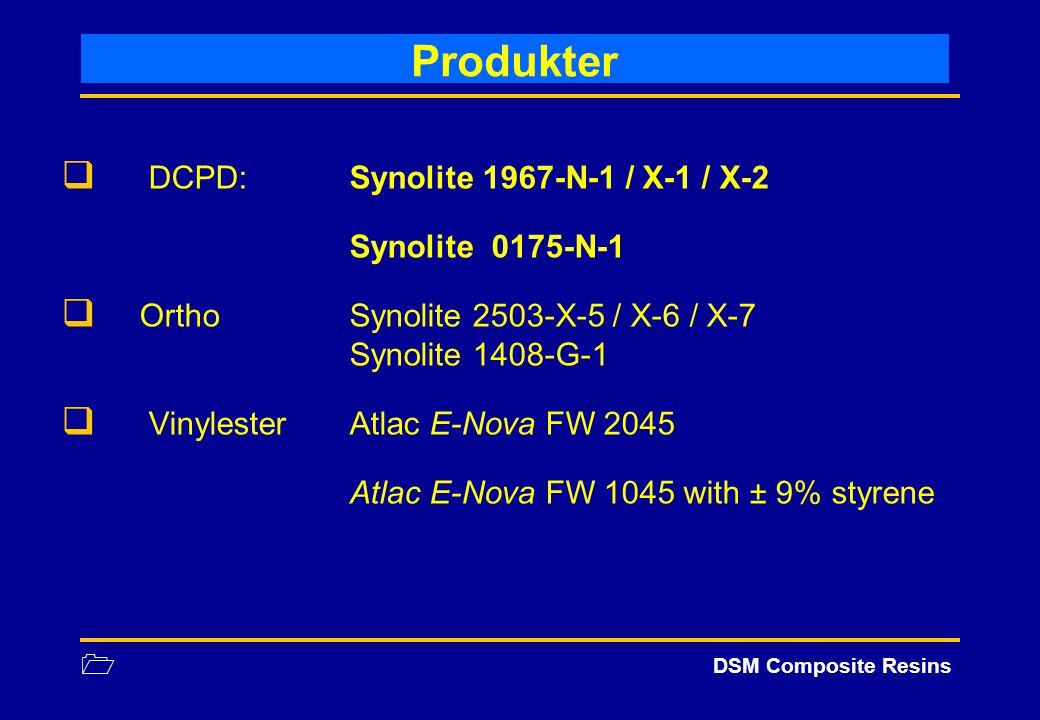 Produkter DCPD: Synolite 1967-N-1 / X-1 / X-2 Synolite 0175-N-1