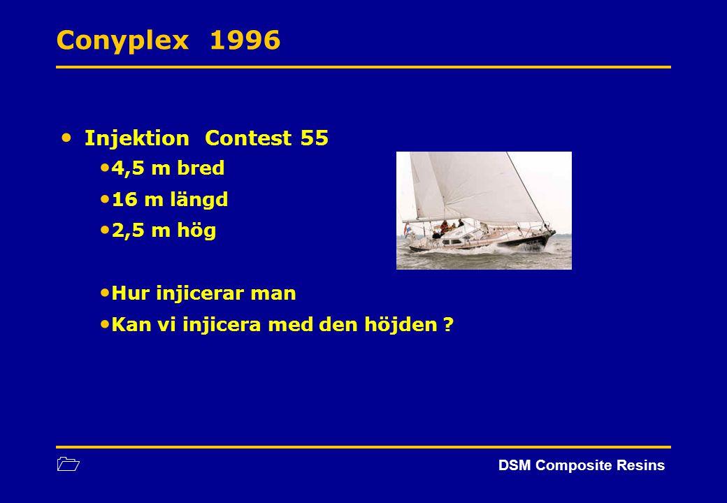 Conyplex 1996 Injektion Contest 55 4,5 m bred 16 m längd 2,5 m hög