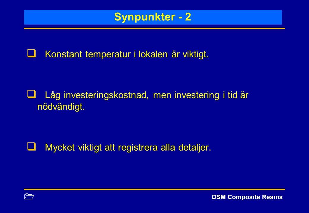 Synpunkter - 2 Konstant temperatur i lokalen är viktigt.