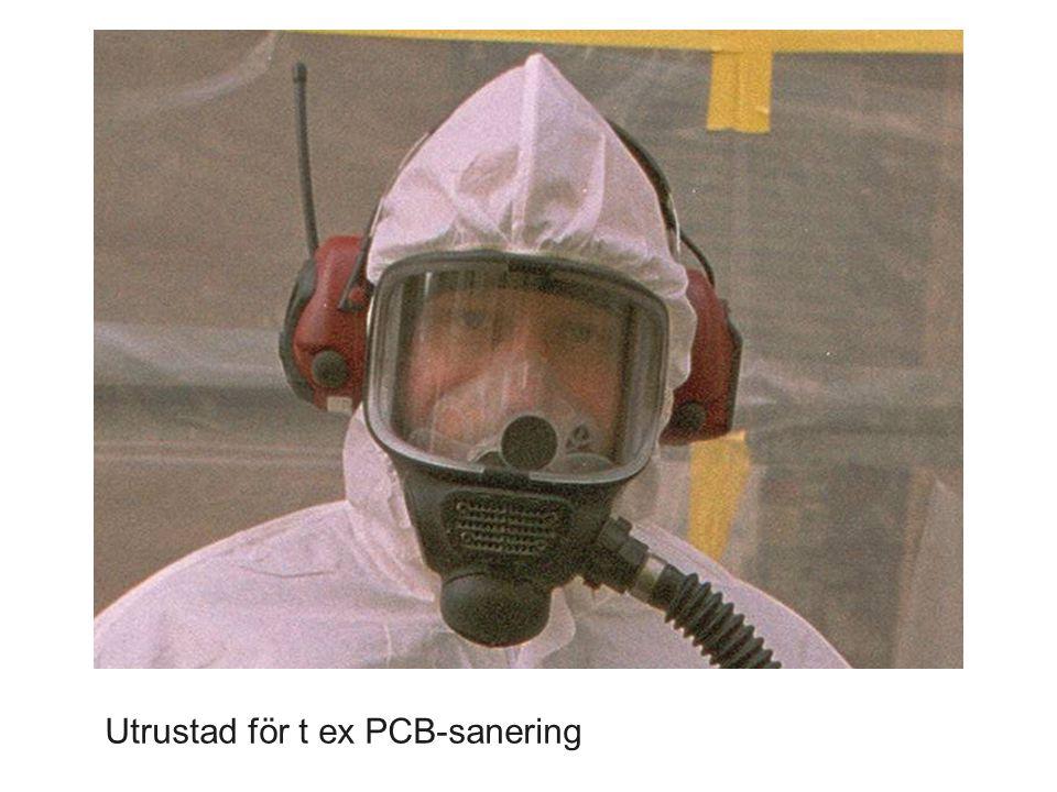 Utrustad för t ex PCB-sanering