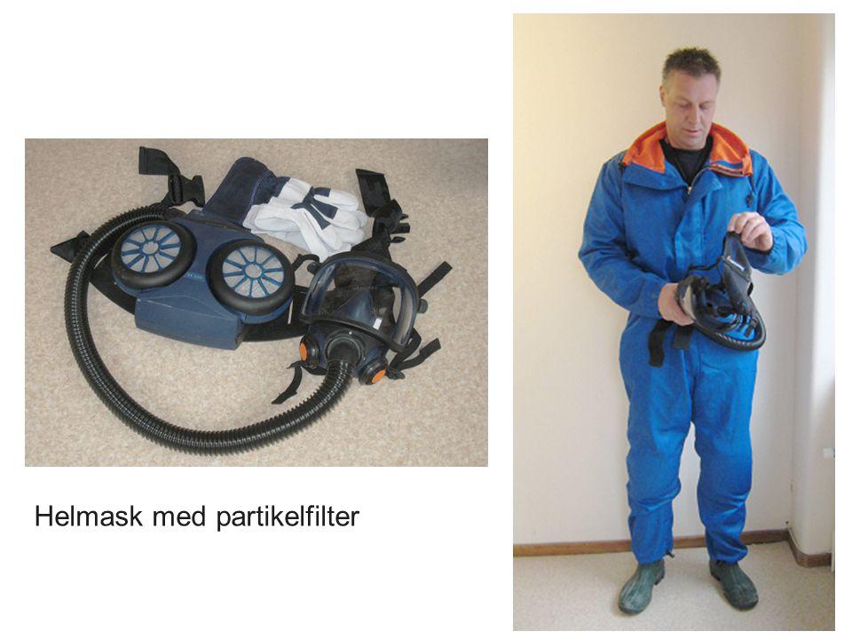 Helmask med partikelfilter