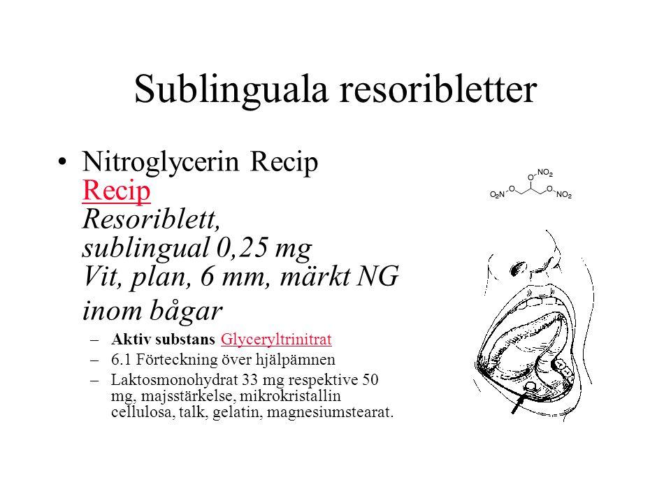 Sublinguala resoribletter