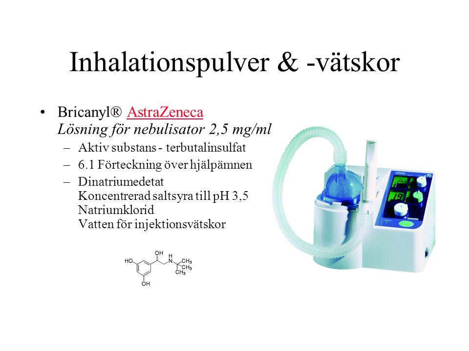 Inhalationspulver & -vätskor