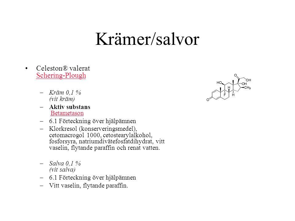 Krämer/salvor Celeston® valerat Schering-Plough Kräm 0,1 % (vit kräm)