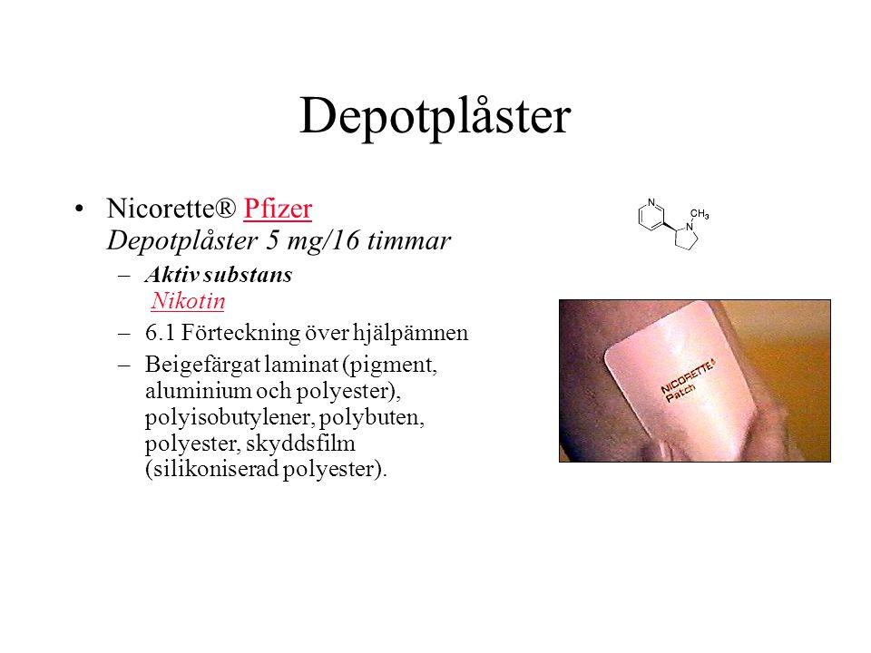 Depotplåster Nicorette® Pfizer Depotplåster 5 mg/16 timmar