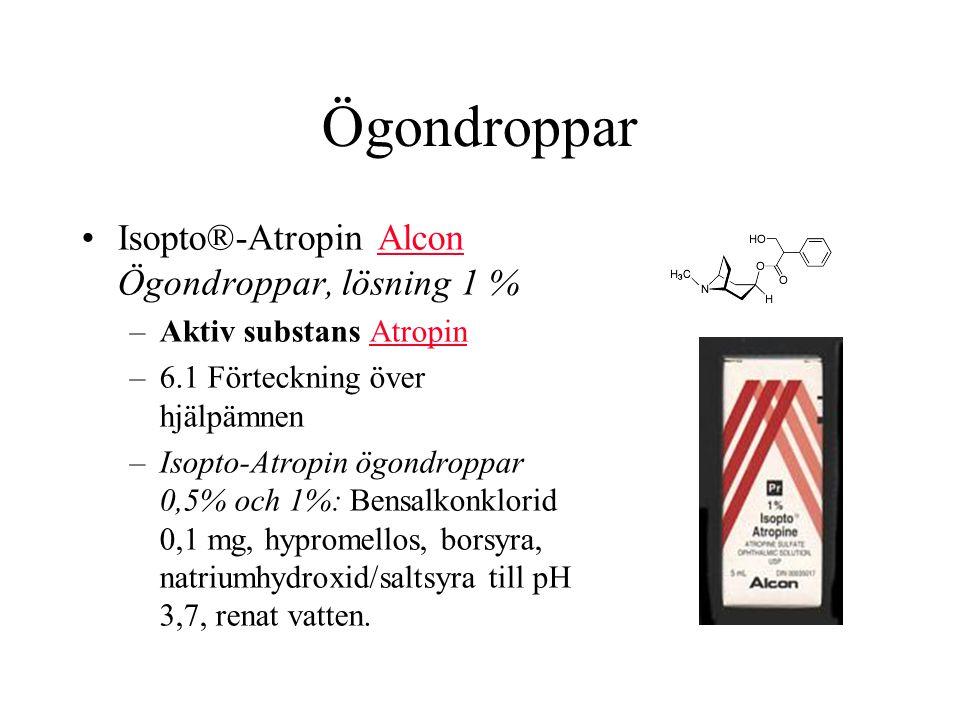 Ögondroppar Isopto®-Atropin Alcon Ögondroppar, lösning 1 %