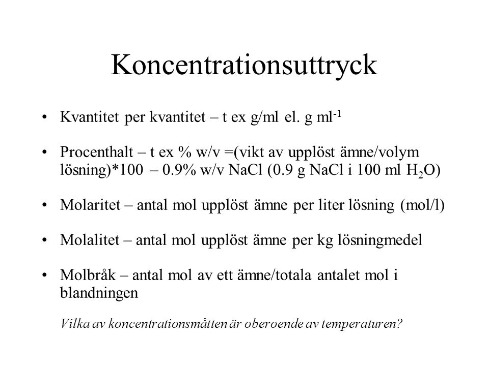 Koncentrationsuttryck