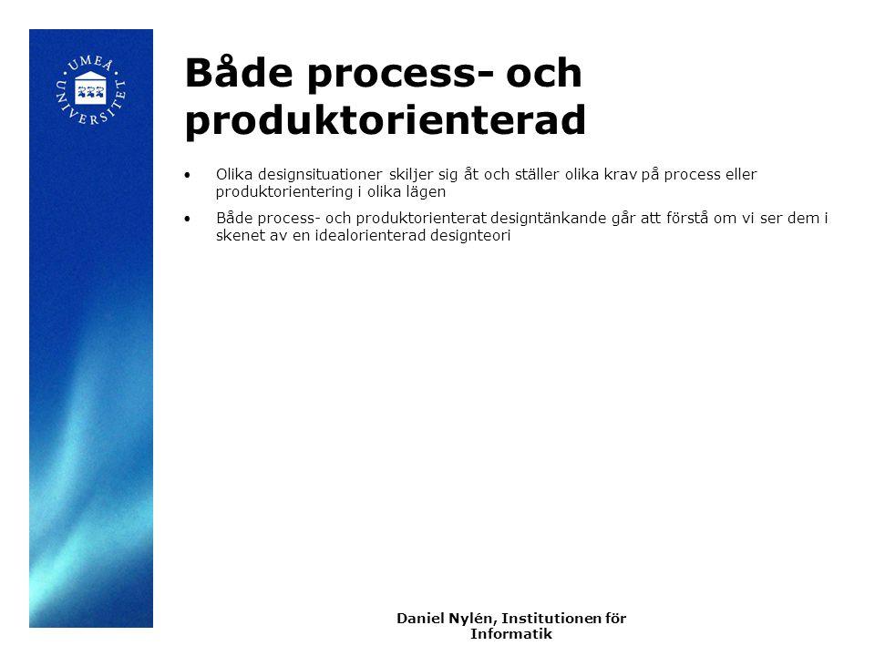 Både process- och produktorienterad