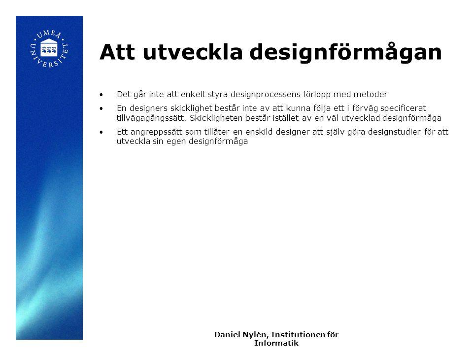 Att utveckla designförmågan