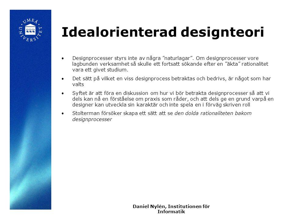 Idealorienterad designteori