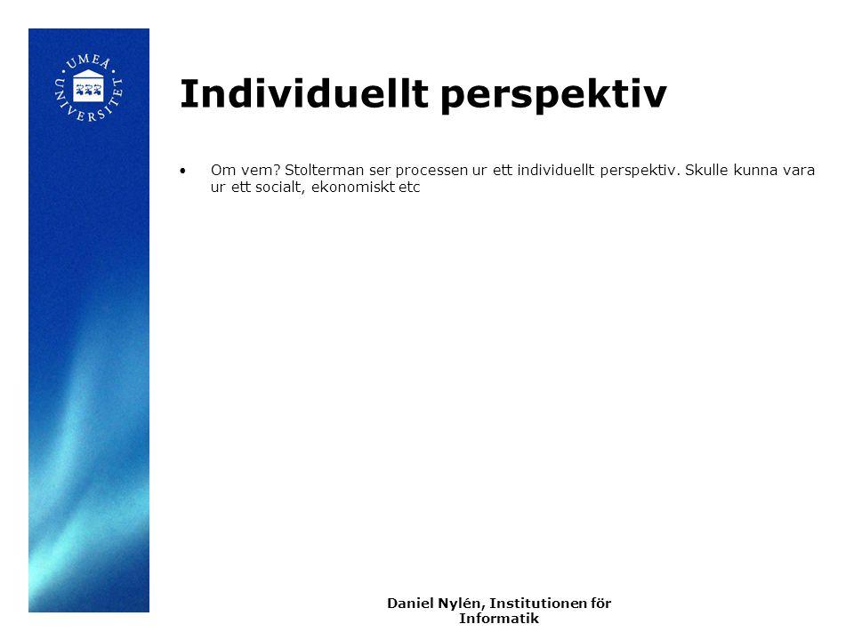 Individuellt perspektiv