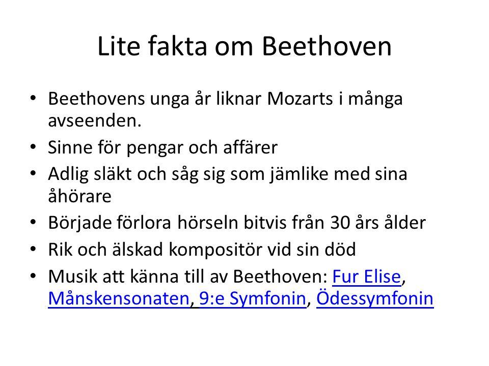Lite fakta om Beethoven