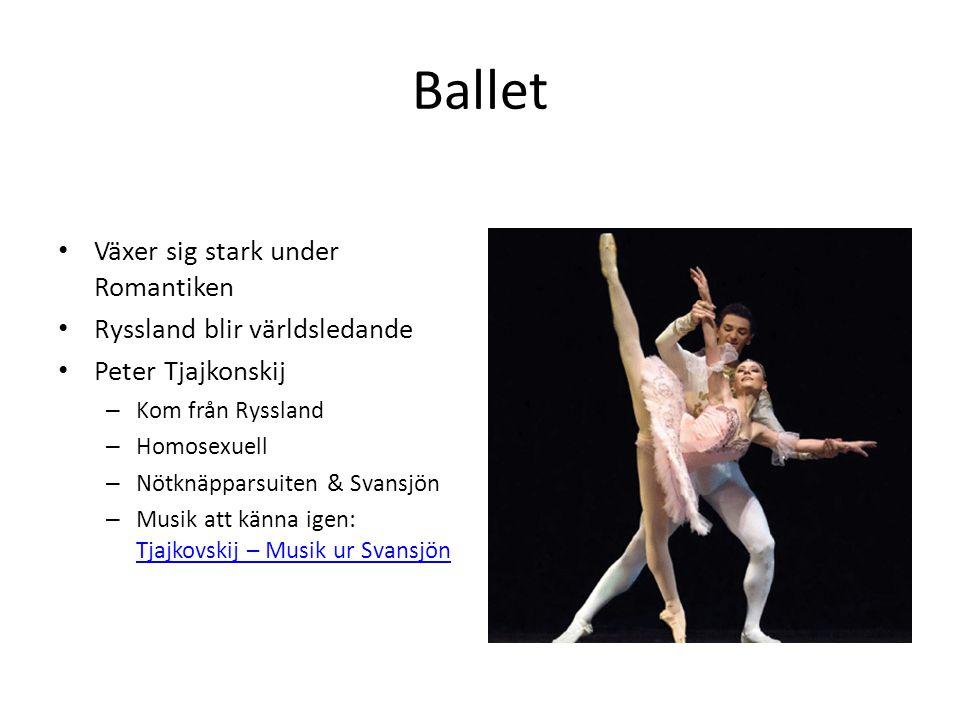 Ballet Växer sig stark under Romantiken Ryssland blir världsledande
