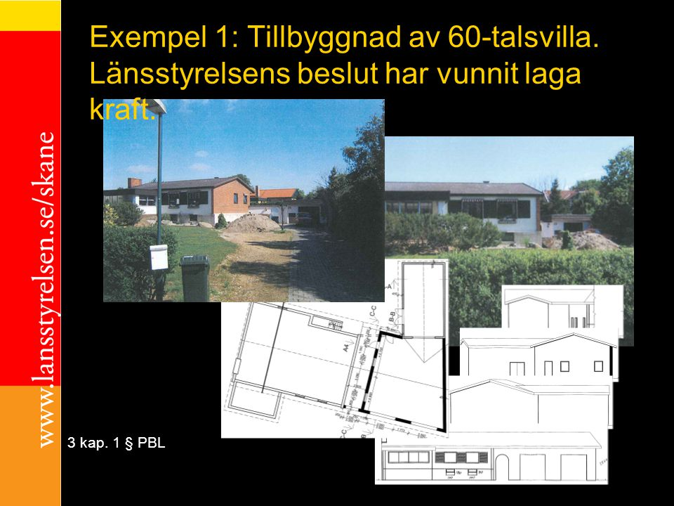 Exempel 1: Tillbyggnad av 60-talsvilla