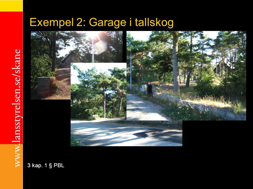 Exempel 2: Garage i tallskog