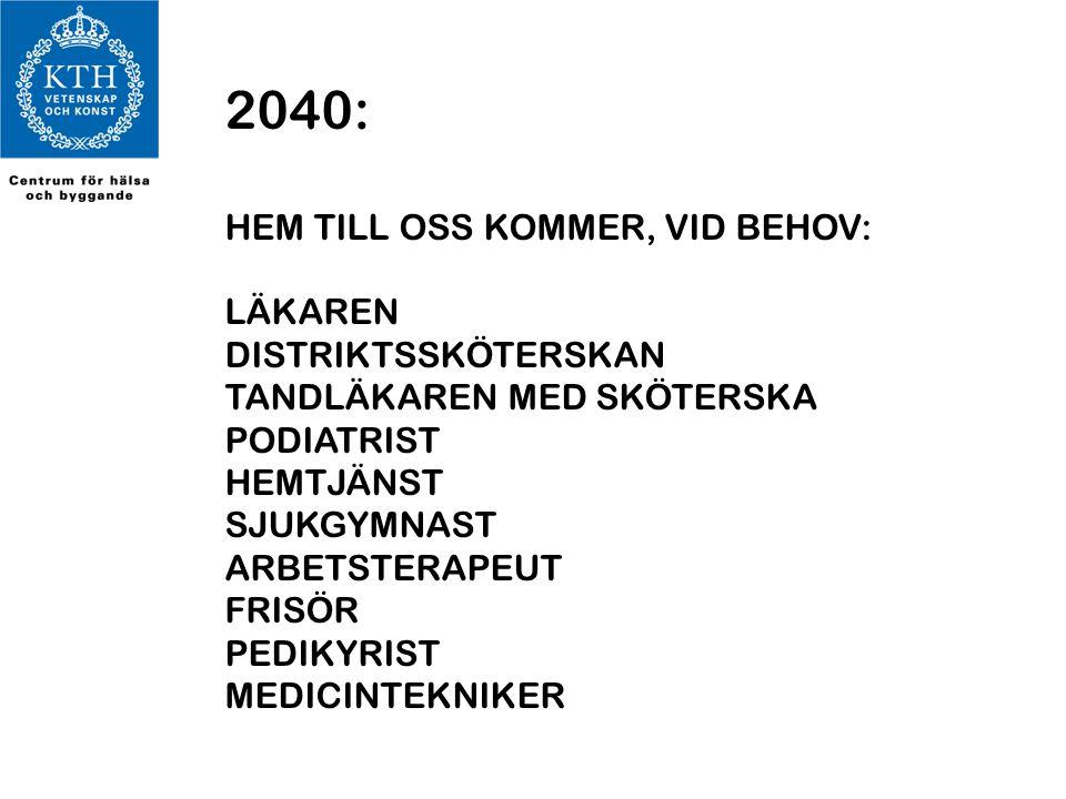 2040: HEM TILL OSS KOMMER, VID BEHOV: LÄKAREN DISTRIKTSSKÖTERSKAN