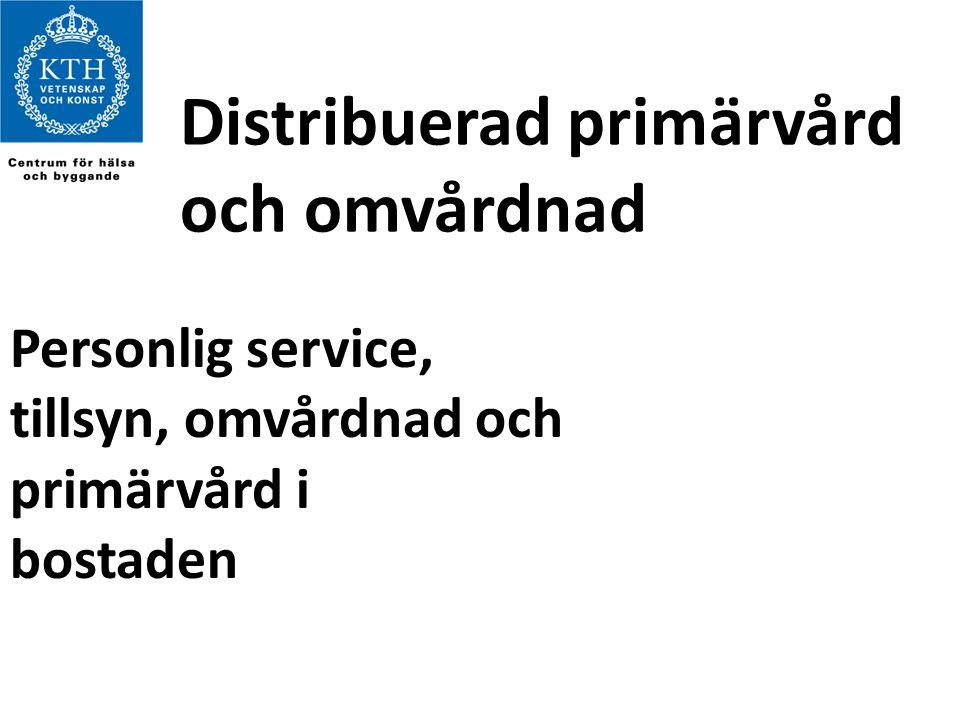 Distribuerad primärvård och omvårdnad